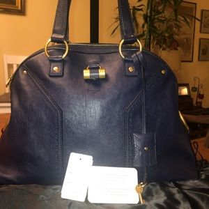 Authentic Large YSL Muse, Navy